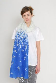 AW1112 ASCENSION WRAP SCARF - BLUE