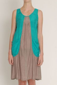 SS13 SILK HABOTAI BIG POCKET DRESS
