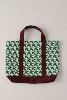 AW1213 THOUSAND PHEASANTS SMALL TOTE BAG - EVER GREEN