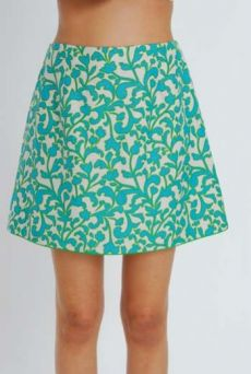 SS11 SNOBBY WEED SHIELD SKIRT - GREEN